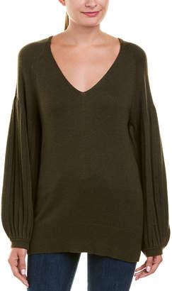 Ella Moss Bishop Sleeve Wool-Blend Pullover