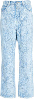 Rachel Comey Norm High Rise Cropped Straight Leg Jean