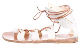 Ancient Greek Sandals Leather Lace-Up Sandals