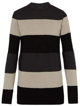 Rick Owens Multi Knit Striped Virgin Wool Blend Sweater - Mens - Multi