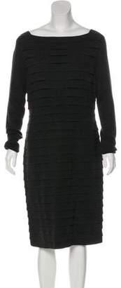 Akris Wool & Cashmere-Blend Tiered Dress