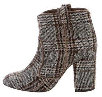 Laurence Dacade Woven Patterned Ankle Boots $175 thestylecure.com