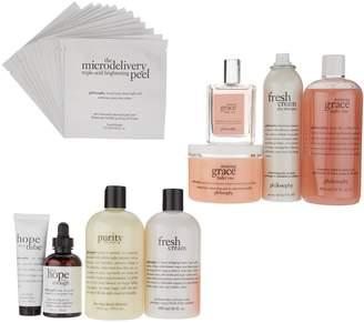 philosophy the ultimate hair, fragrance body & skin 9-piece kit