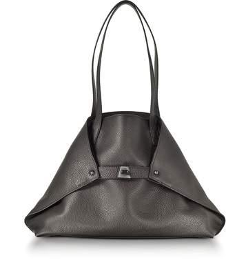 Akris Mocca Brown Cervocalf Ai Small Shoulder Bag