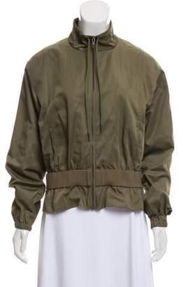 Frame Zip-Up Peplum Jacket w/ Tags green Zip-Up Peplum Jacket w/ Tags