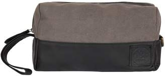 Dopp MAHI Leather - Canvas and Leather Classic Wash Bag in Black and Grey