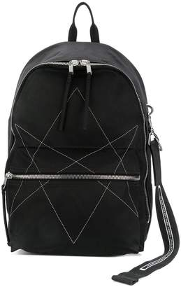 Rick Owens stitched star detail backpack