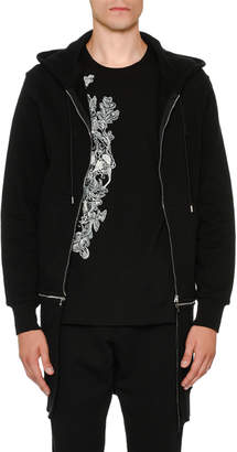 Alexander McQueen Long Zip-Front Two-Piece Hoodie