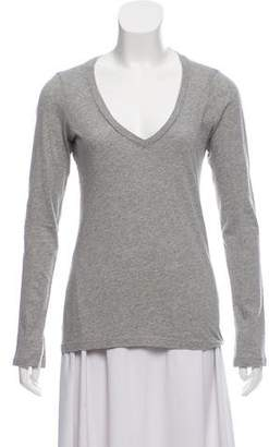 Frame Long Sleeve V-Neck Top