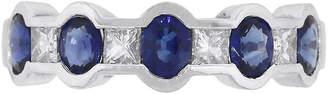 One Kings Lane Vintage Princess Diamond & Oval Sapphire Ring - Raymond Lee Jewelers