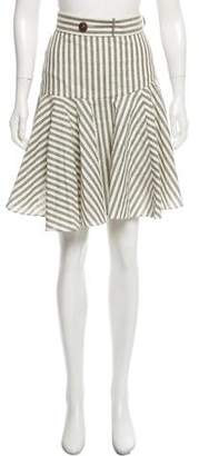 Loewe Striped Knee-Length Skirt