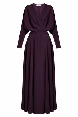 Undress Anoesis Purple Maxi Wrap Dress