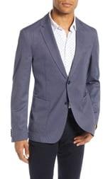 HUGO Hooper Trim Fit Solid Wool Blend Sport Coat
