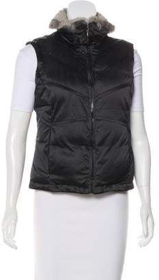 Via Spiga Fur-Trimmed Down Vest