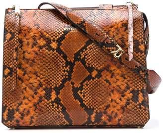 Rochas snake effect shoulder bag