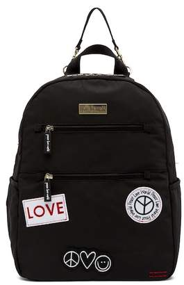Peace Love World Diaper Backpack - Patches