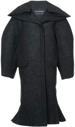 boxy flared coat