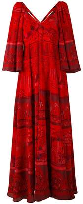 Valentino Landscape Border dress