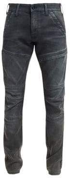G Star Distressed Ribbed Skinny Jeans