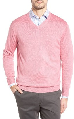 Men's Peter Millar Silk Blend V-Neck Sweater $155 thestylecure.com