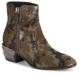 Giuseppe Zanotti Devore Mimetico Camo Ankle Boots