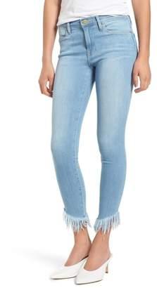 Frame Le High Shredded Hem Skinny Jeans