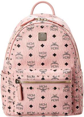 MCM Stark Small Studded Outline Visetos Backpack