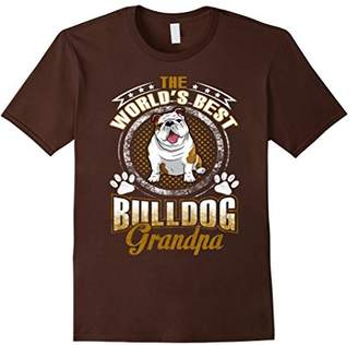 Bulldog Shirt World's Best Bulldog Grandpa Funny Gift Tees
