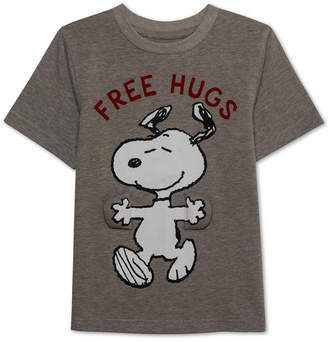 Peanuts Little Boys Free Hugs Snoopy Graphic T-Shirt