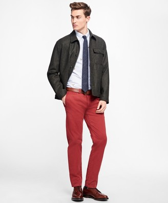 Brooks Brothers Fleece-Lined Wool Jacket