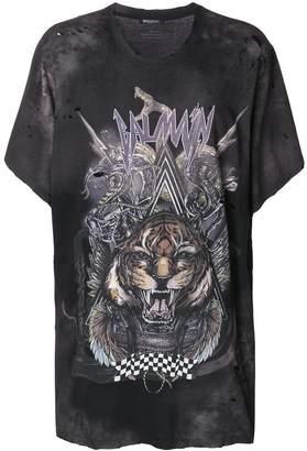 Balmain oversized tiger print T-shirt