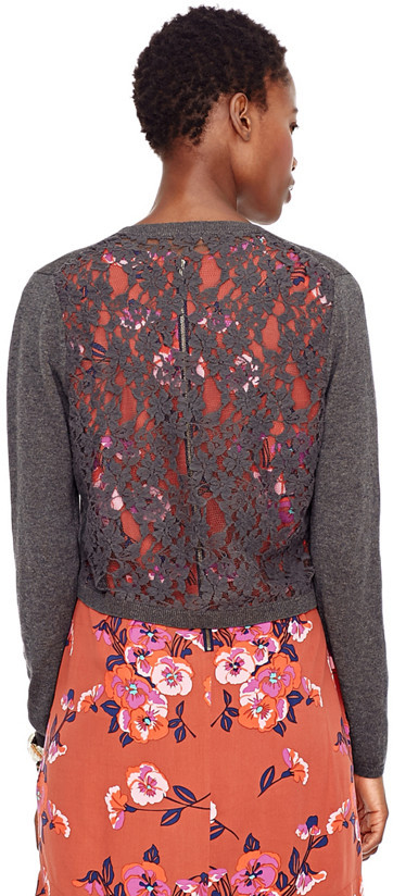 Fossil Peggy Lace Back Cardigan
