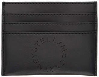 Stella McCartney Black Perforated Logo Card Holder