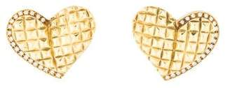 18K Diamond Heart Earrings