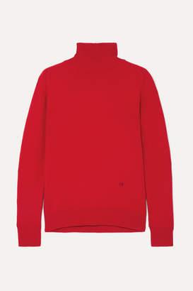 Victoria Beckham Embroidered Cashmere-blend Turtleneck Sweater