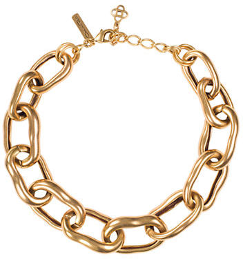 Oscar de la Renta Gold Tone Link Necklace
