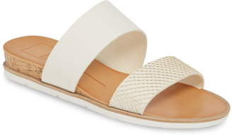 8ef40a4b24f5 Dolce Vita White Slide Women s Sandals - ShopStyle