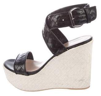 Stuart Weitzman Platform Wedge Sandals