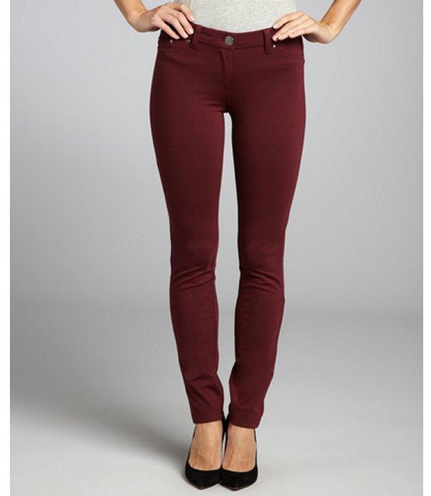 Romeo & Juliet Couture burgundy stretch skinny leg pant