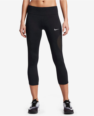 Nike Power Cropped Running Leggings $65 thestylecure.com
