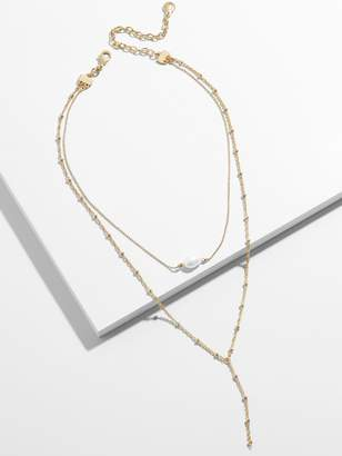 BaubleBar Harmonia Pearl Y-Chain Necklace