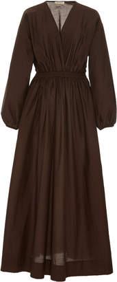 Matteau Shirred Cotton-Voile Maxi Dress Size: 2