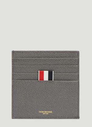 Thom Browne Square Bi-colour Card Holder in Grey