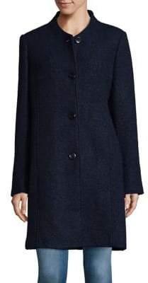 Ellen Tracy Button-Front Boucle Coat