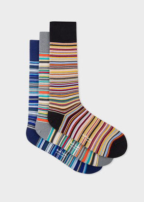 58fbd379857ed2 Paul Smith Men's Signature Stripe Socks Three Pack