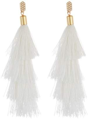 Rebecca Minkoff Stacked Tassel Dangle Earrings