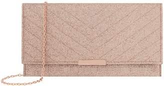 Next Womens Accessorize Rose Gold Kelly Glitter Clutch
