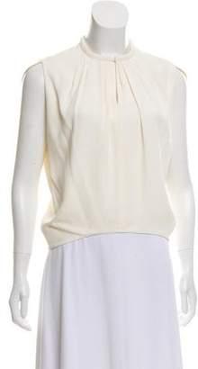 Balenciaga Cap Sleeve High-Low Top