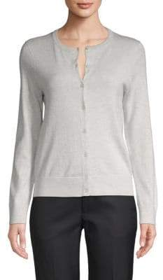 Saks Fifth Avenue Cotton Silk Cashmere Blend Cardigan