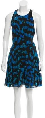 Proenza Schouler Printed Mini Dress Blue Printed Mini Dress